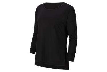 Camiseta Nike Dri Fit Yoga Manga Larga Negro Mujer Xs