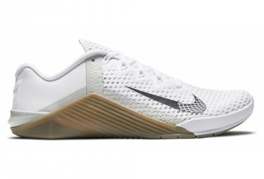 Chaussures de Cross Training Nike Metcon 6 Blanc / Marron