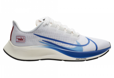 Nike Air Zoom Pegasus 37 Premium BRS Running Shoes White Blue Men