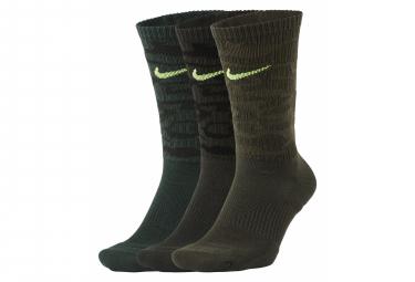 Calcetines Nike Everyday Plus Cushioned Verde Camuflaje Unisex 43 46