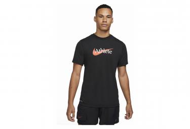 Camiseta De Manga Corta Nike Dri Fit Athlete Negra M
