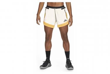 Pantalones Cortos Nike Dri Fit Flex Stride Trail Amarillo Negro M