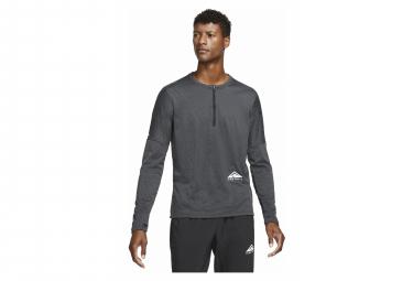 Camiseta Nike Element Trail Manga Larga 1 2 Cremallera Negro M