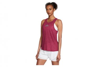 Camiseta Sin Mangas Roja Nike City Sleek Trail Para Mujer M
