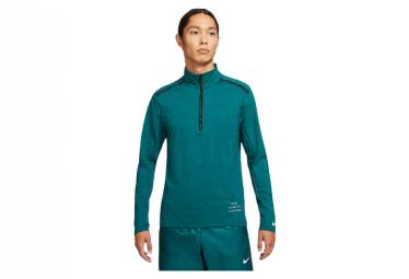 Nike Dri Fit Element Run Division 1 2 Zip Top Hombre Azules Verdes M