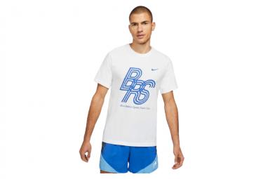 Nike Dri Fit Brs Camiseta De Manga Corta Blanco Hombre M