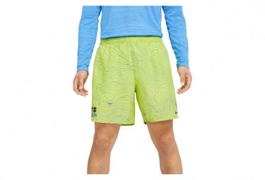 Nike Challenger Ekiden Short Amarillo Hombre L