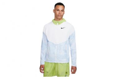 Veste coupe-vent Nike Therma Essential Ekiden Blanc Jaune Homme