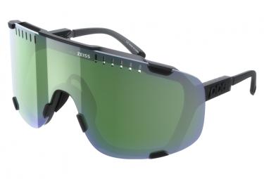 Poc Devour / Uranium Black Translucent-Grey / Deep Green Mirror / Occhiali neri