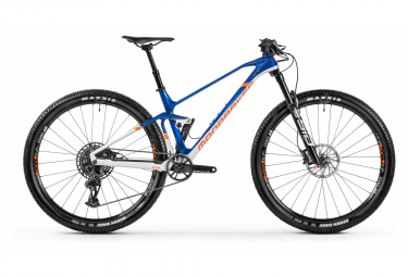 MTB Doble Suspensión Mondraker F-Podium Carbon DC 29'' Bleu / Blanc / Orange 2021