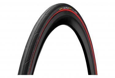 Continental Ultra Sport III 700 mm Straßenreifen Schlauchtyp Faltbares PureGrip Compound E-Bike e25 Schwarz / Rot