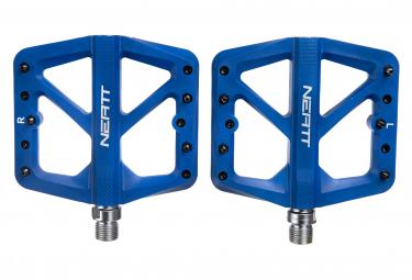 Paar Neatt Composite 5 Pin Flat Pedale Blau