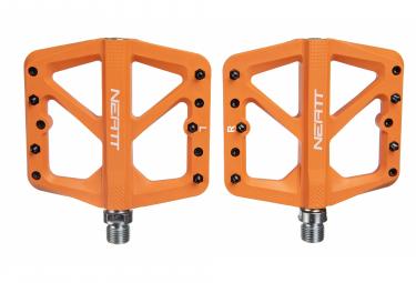 Coppia di pedali piatti Neatt Composite a 5 pin arancioni