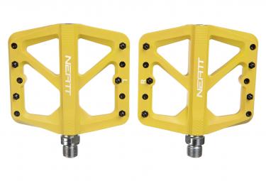 Coppia di pedali piatti Neatt Composite a 5 pin gialli