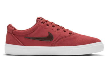 Chaussures Nike SB Charge Suede Rouge