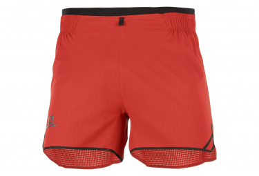 Salomon Sense Aero 4 Shorts Red Men