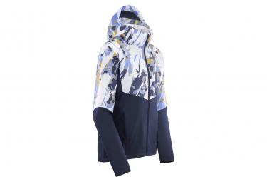Veste coupe-vent déperlante Salomon Agile FZ Bleu Blanc Femme