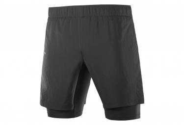 Pantalon Corto Salomon Xa Twinskin 2 En 1 Negro Hombre S