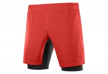 Short 2-en-1 Salomon XA Twinskin Rouge Homme