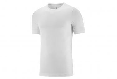 Camiseta Salomon Sense Seamless Manga Corta Blanco Hombre L