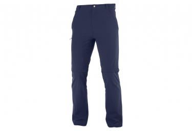 Pantalon Salomon Wayfarer Zip Off Bleu Homme
