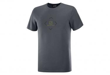 Camiseta Salomon Cotton Gris Para Hombre M