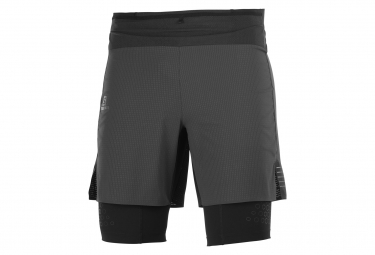 Pantalon Corto Salomon Exo Motion Twinskin 2 En 1 Negro Hombre S