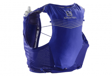 Salomon Adv Skin 5 Set Mochila De Hidratacion Azul Unisex Xs