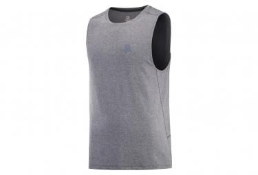 Camiseta De Tirantes Para Hombre Salomon Agile Dark Grey L