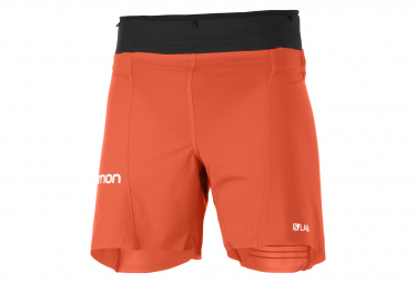 Short Salomon Sense 6'' Rouge Noir Homme