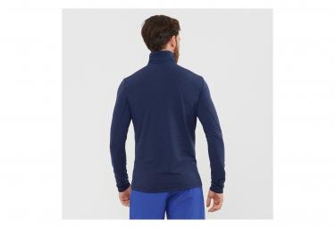 Haut manches longues 1/2 Zip Salomon Outline HZ Bleu Homme