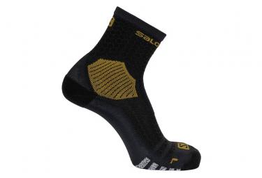 Salomon NSO Long Run Socks Black Gold Unisex