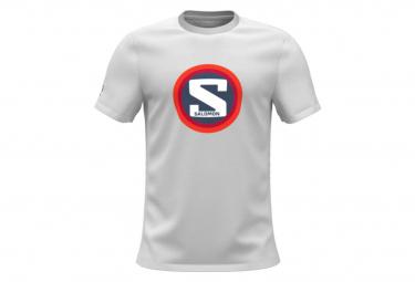 Camiseta Salomon Outlife Graphic Heritage Blanca Para Hombre Xl