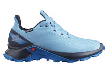 Chaussures Enfant Salomon Alphacross Blast CSWP Bleu