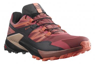 Zapatillas Salomon Wings Sky Gtx Trail Rojo Mujer 38 2 3