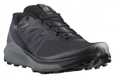 Salomon Sense Ride 4 Running Shoes Black Gray Men