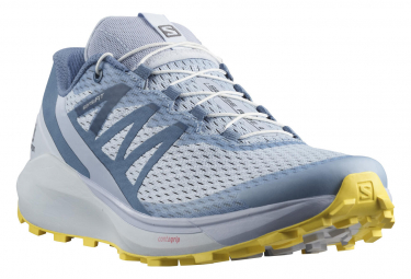 Zapatillas Running Salomon Sense Ride 4 Azul Amarillo Mujer 39 1 3
