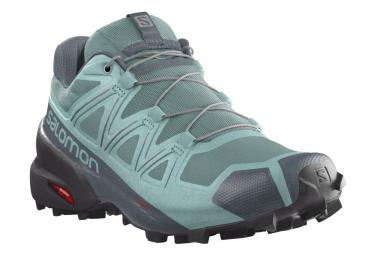 Zapatillas Salomon Speedcross 5 Trail Verde Gris Mujer 39 1 3