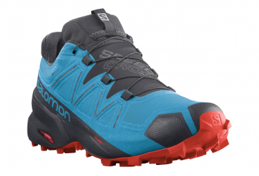 Trail Schuhe Salomon Speedcross 5 GTX Blau Rot Herren