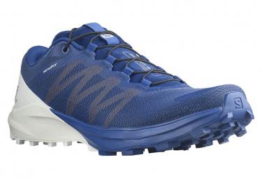 Salomon Sense 4 Pro Trail Shoes Blue White Men
