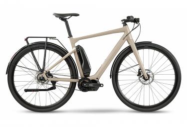 Vélo de Ville Électrique Fitness BMC Alpenchallenge AMP AL City One Shimano Nexus 5V Courroie Gris / Beige 2021