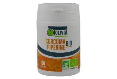 Image of Curcuma et piperine bio 60 gelules vegetales de 300 mg