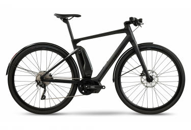 BMC Alpenchallenge AMP City One elektrisches Fitness-City-Fahrrad Shimano Deore 10S 504 Wh 700 mm Carbon Grey 2021
