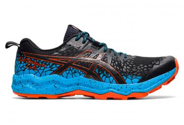 Asics Fujitrabuco Lyte Trail Shoes Black Blue Orange