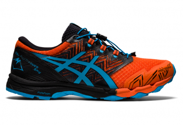 Asics Gel Fujitrabuco Sky Orange Blue Trail Shoes