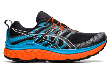 Asics Trabuco Max Trail Shoes Black Blue Orange