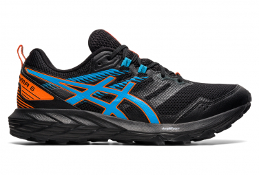 Asics Gel Sonoma 6 Trail Shoes Black Blue Orange