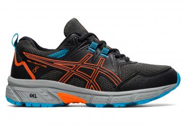 Zapatillas Running Asics Gel Venture 8 Gs Mujer Negras Naranja 39