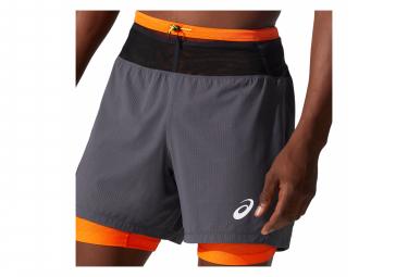 Short Asics Fujitrail Gris Orange