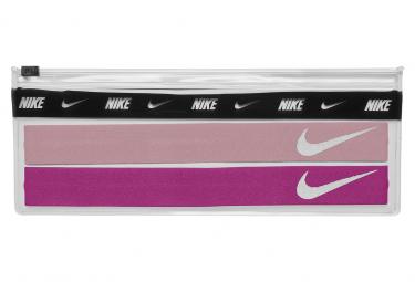 Cinta para la cabeza fina x2 cintas para la cabeza Nike rosa